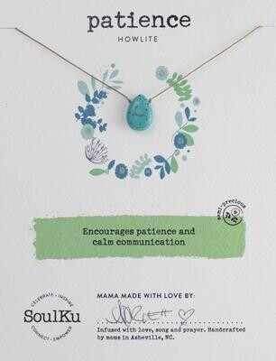 Patience Howlite Soul Full Necklace