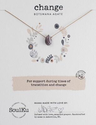 Change Botswana Agate Soul Full Necklace