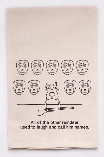 Reindeer Games Kitchen Tea Towel