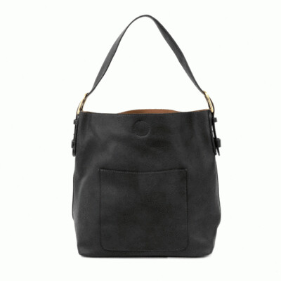 Black Hobo Black Handle Handbag