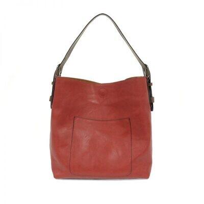 Scarlett Hobo Coffee Handle Silver Buckle Handbag