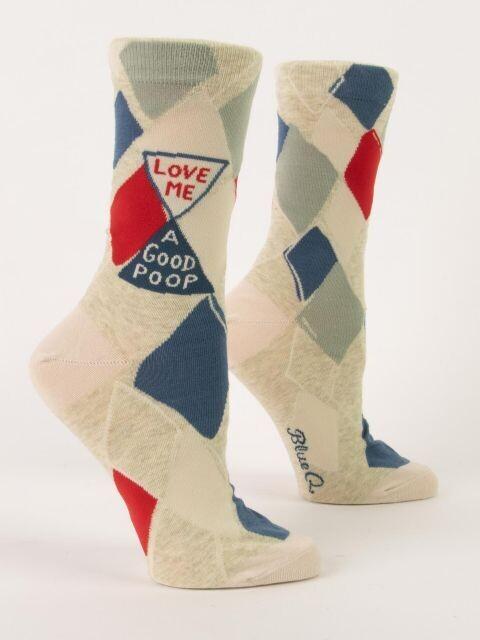 Love Me A Good Poop W - Crew Socks