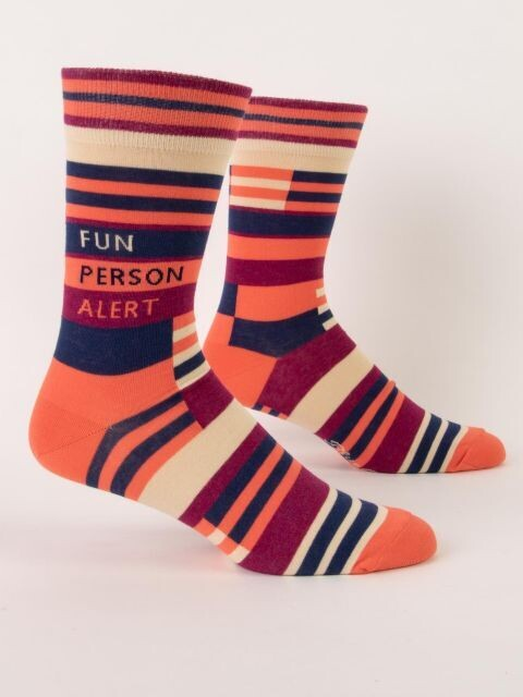 Fun Person Alert M - Crew Socks
