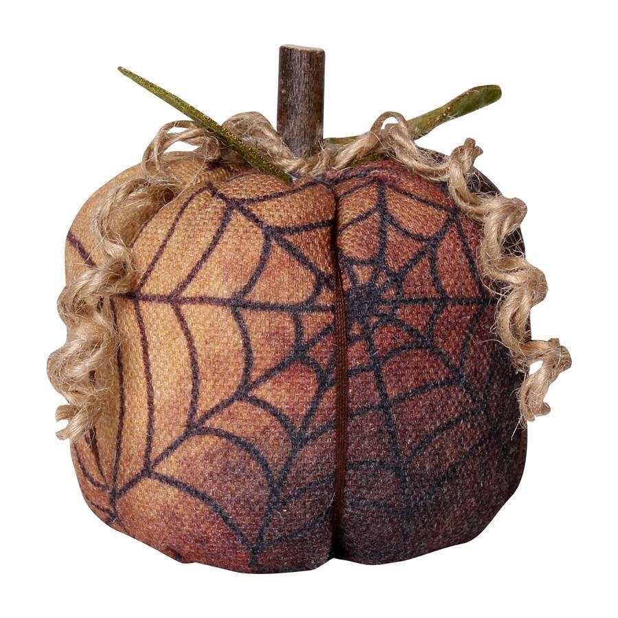 Small Black Web Fabric Pumpkin