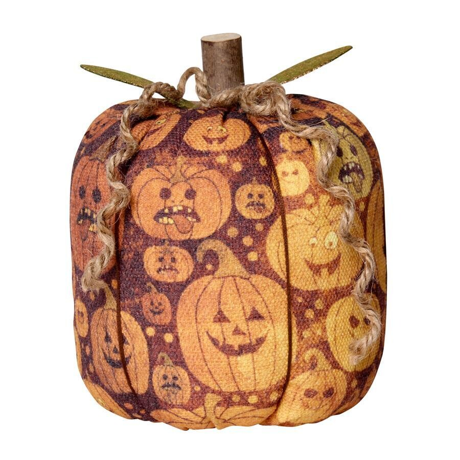 Large Jack O Fabric Pumpkin