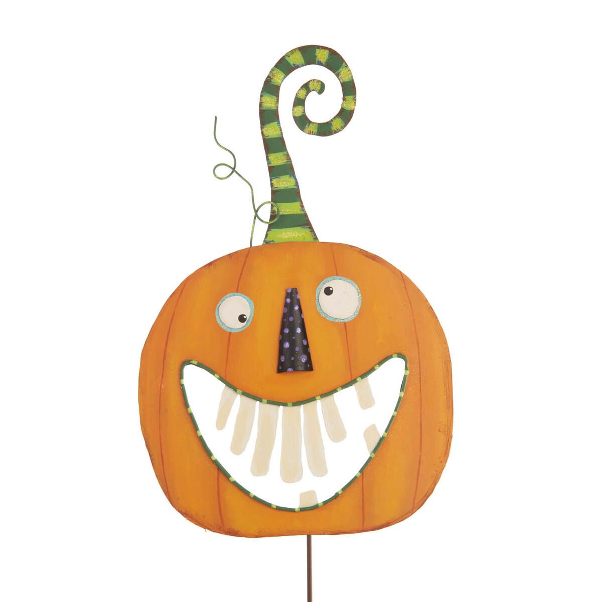 Crazy Tooth Pumpkin Garden Stake