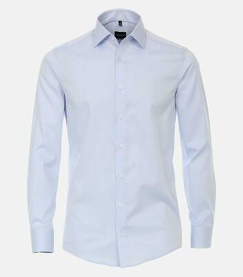 Strijkvrij overhemd lichtblauw