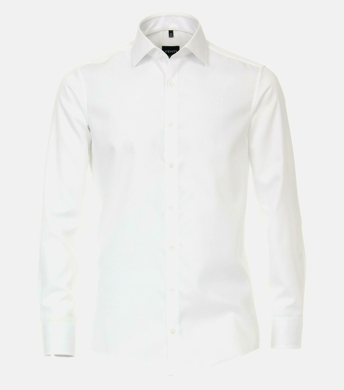Strijkvrij overhemd wit