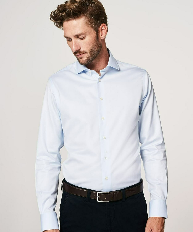 Profuomo travel overhemd lichtblauw
