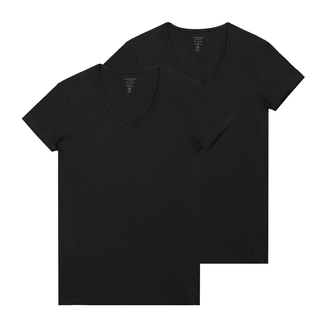 Dstrezzed 2-pack t-shirt Zwart & Wit