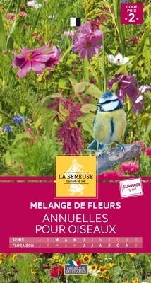 MELANGE DE FLEURS ANNUELLES POUR OISEAUX 3m²