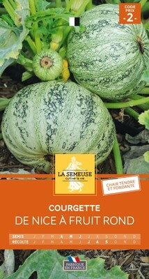 COURGETTE DE NICE A FRUITS RONDS