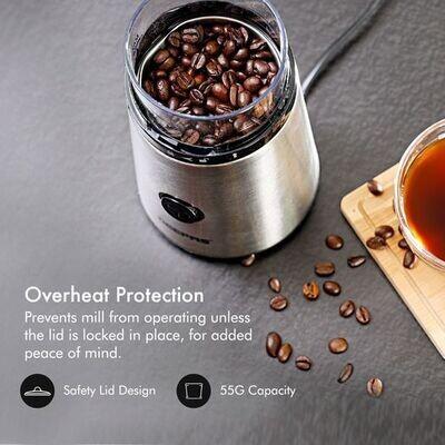 Geepas Electric Coffee Grinder Machine Milling Bean Nut & Spice Grinding 150W