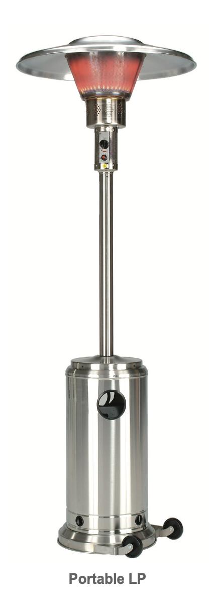 Infrasave's Parasol 4000 Series, Portable Outdoor Patio Heater