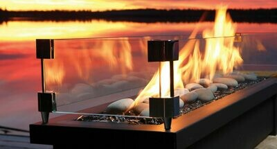 "Barbra Jean Fire Stand with 36"" Linear Burner"