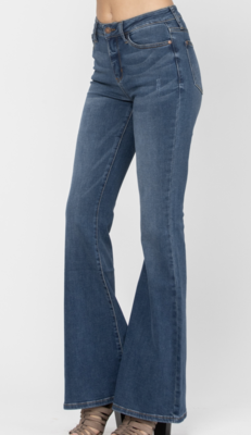 Ivy High Waist Super Flare Jeans by Judy Blue