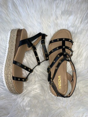 Sandy Strappy Wedge Sandal