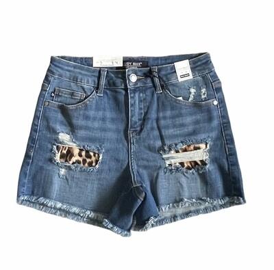 Stella Leopard Patch Shorts by Judy Blue