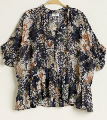 Waverly Floral Print Top