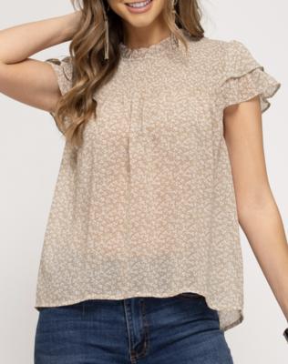Amber Flutter Sleeve Top
