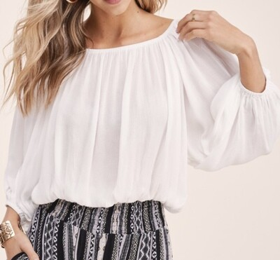 Harlow White Off The Shoulder Top