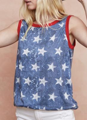 Liberty Star Print Top