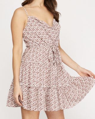 Alicia Dusty Rose Tiered Dress