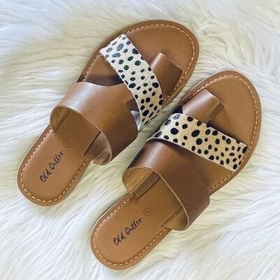 Karsyn Taupe Cheetah Sandal