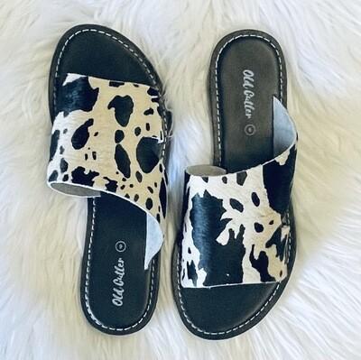 Alivia Cow Print Sandal
