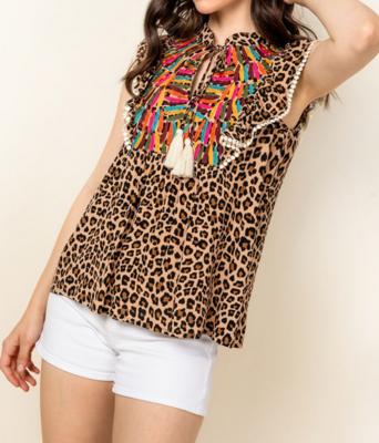 Tessa Cheetah Print Top by THML