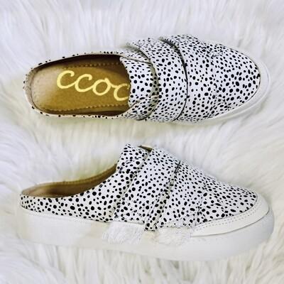 Moxie Black Dot Slip On Sneakers