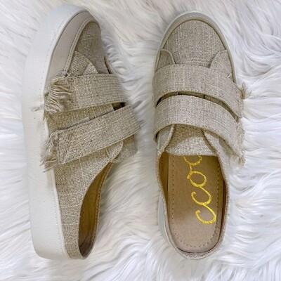 Moxie Natural Linen Slip On Sneaker