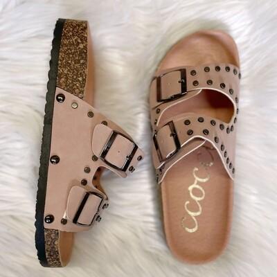 Tilly Blush Buckle Sandal