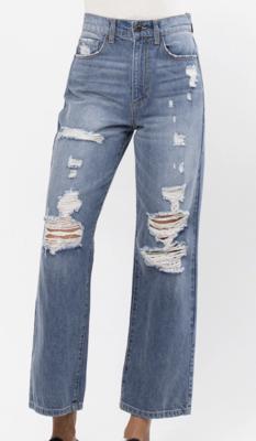 Jenna Cropped Wide Leg Jeans by Sneak Peek