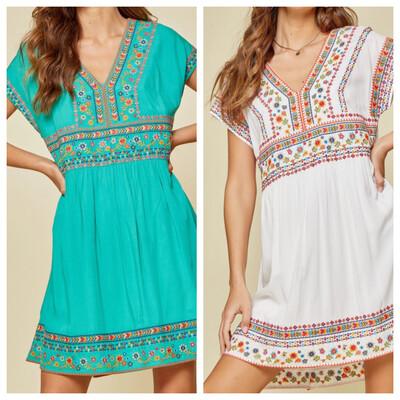 Shayne Embroidered Dress