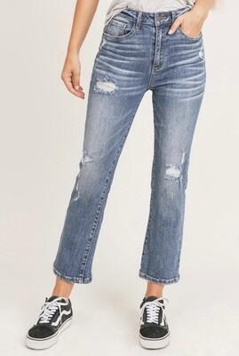 Ashley Vintage Wash Straight Leg Jeans