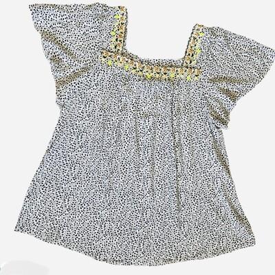Dani Square Neck Embroidered Top