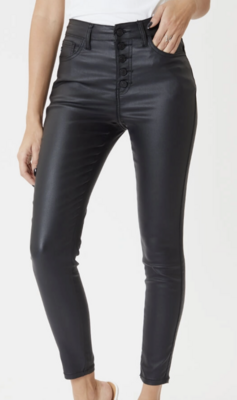 Amelia Faux Leather Skinny Jeans by KanCan