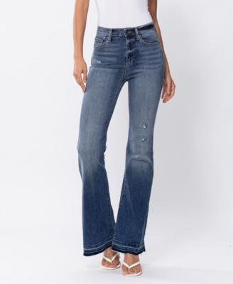Sahara High Rise Flare Jeans by Sneak Peek