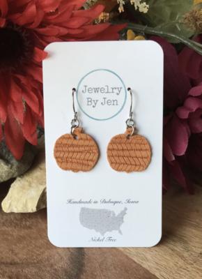 Orange Mini Pumpkin Earrings