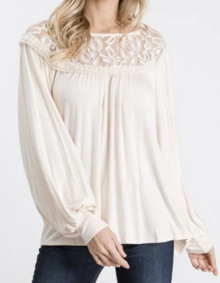 Ivory and Lace Top