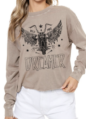 Dreamer Graphic Cropped Tee