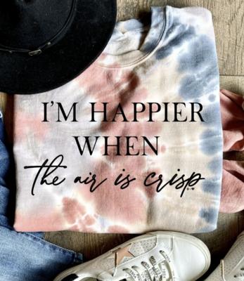 I'm Happier...Fall Tie Dye Sweatshirt