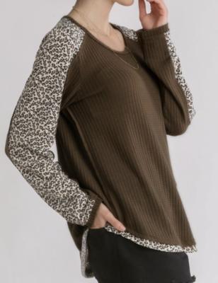 Lizzie Leopard Sleeve Top
