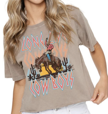 Long Live Cowboys Cropped Tee