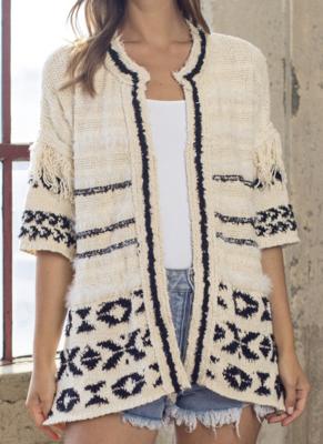 Kenzie Geo Sweater Cardigan