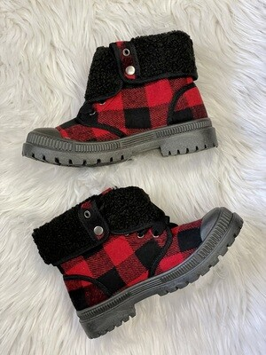 Emerson Buffalo Plaid Lace Up Boots by Very G