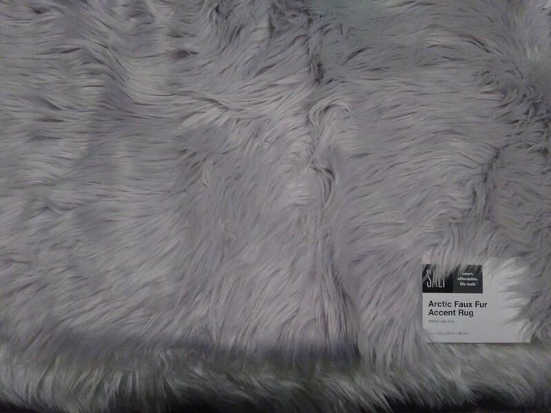 Lavender Faux Fur Accent Rug