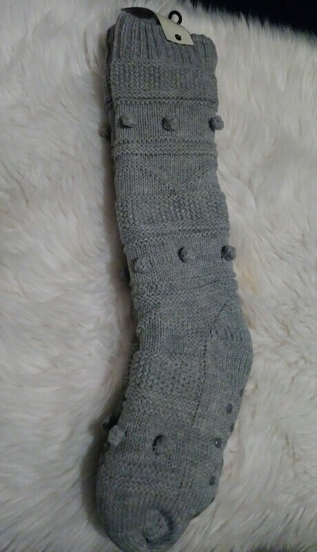 Bee & Willow Slipper Socks (grey)
