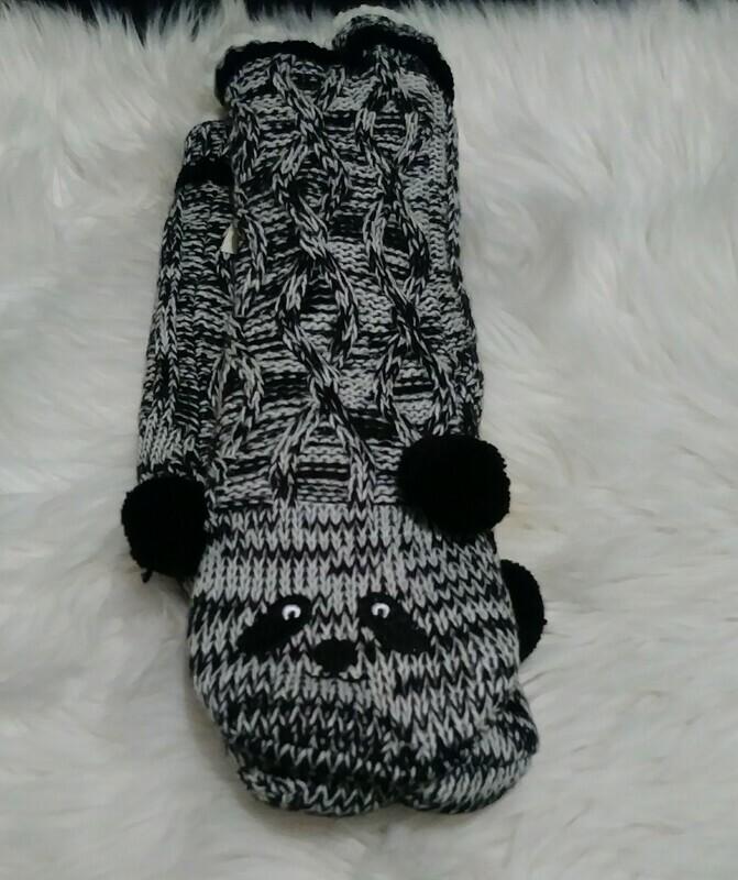 Bee & Willow Slipper Socks (panda)